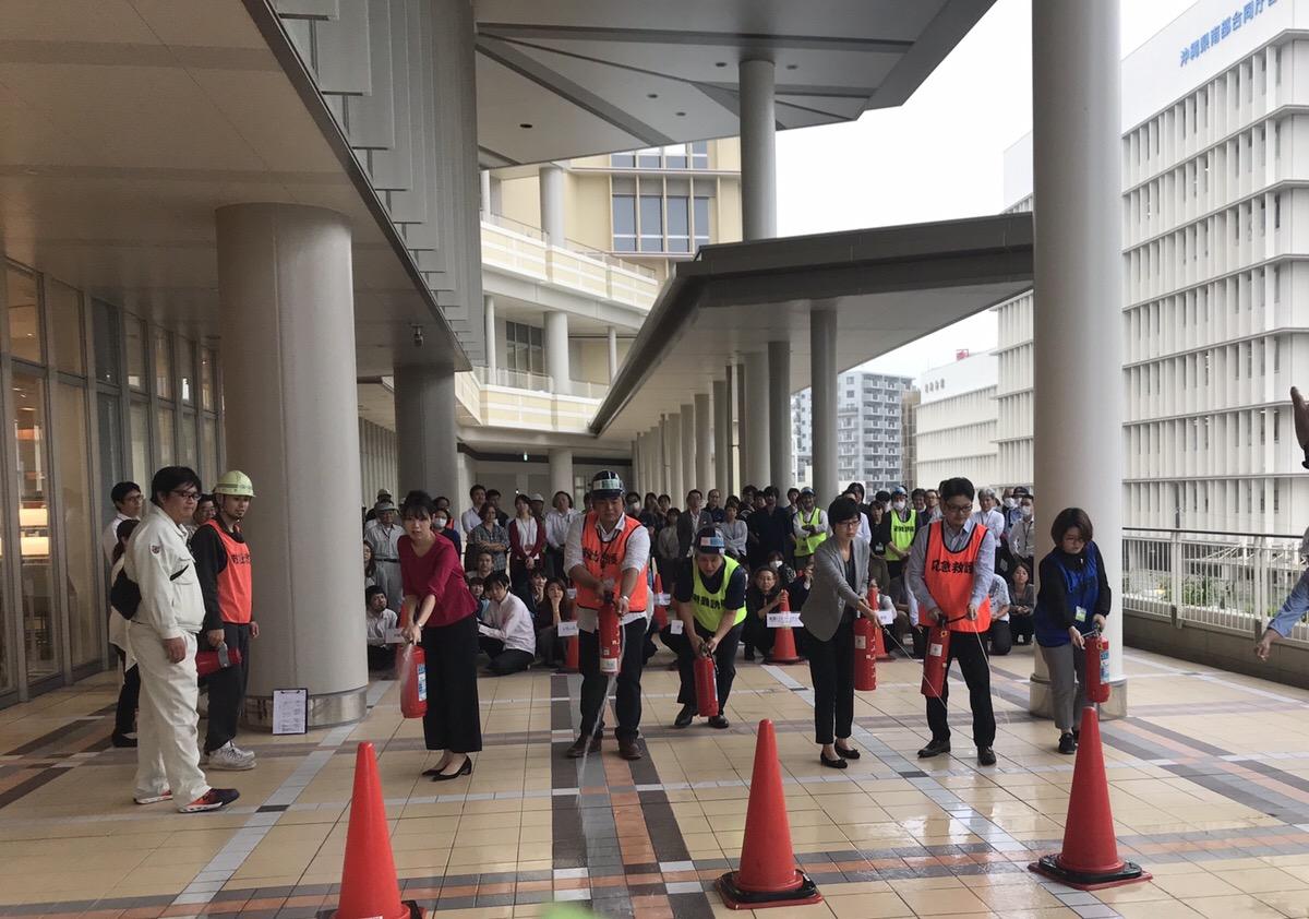 沖縄メンテナンスセンター、初の防災訓練