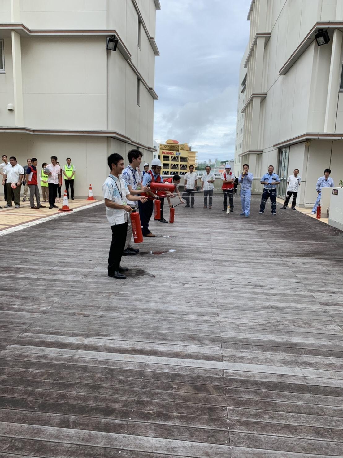 沖縄 設計センターにて避難訓練